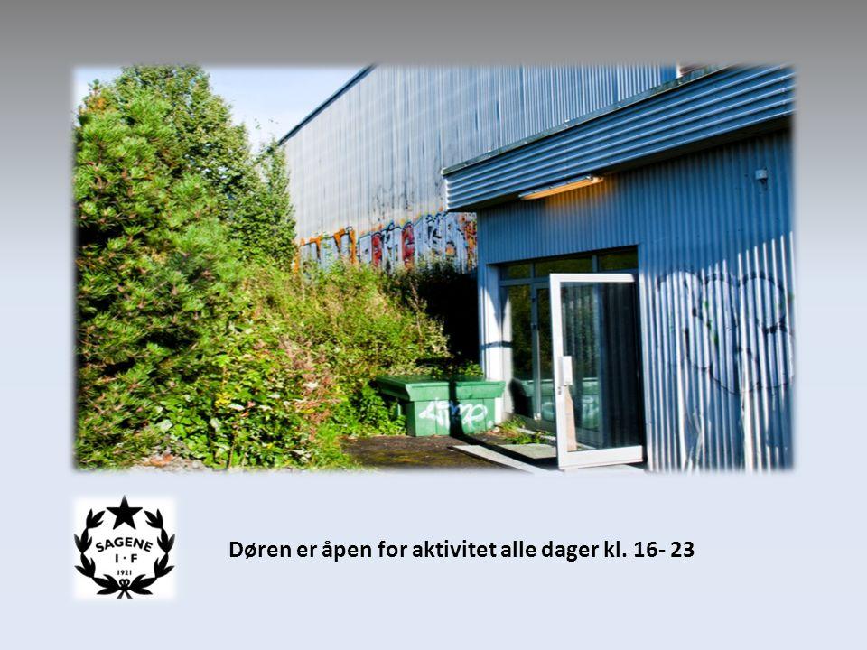 Døren er åpen for aktivitet alle dager kl. 16- 23
