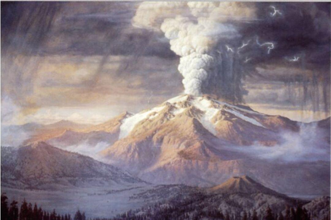 Her i Crater Lake, Oregon, er hele vulkanen sprengt vekk og en stor caldera er tilbake. Geo-105, Kjell P Skjerlie, 2002