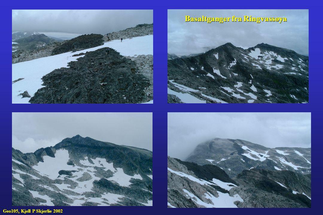 Basaltganger fra Ringvassøya Geo105, Kjell P Skjerlie 2002