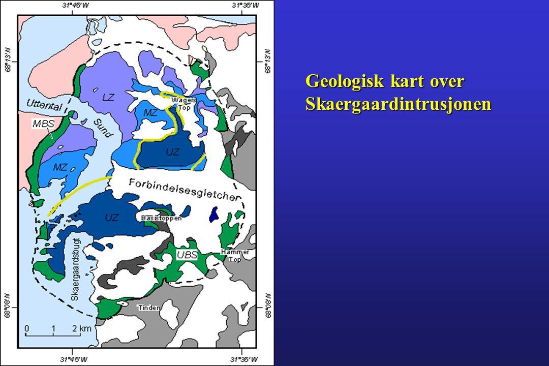 Geologisk kart over Skaergaardintrusjonen