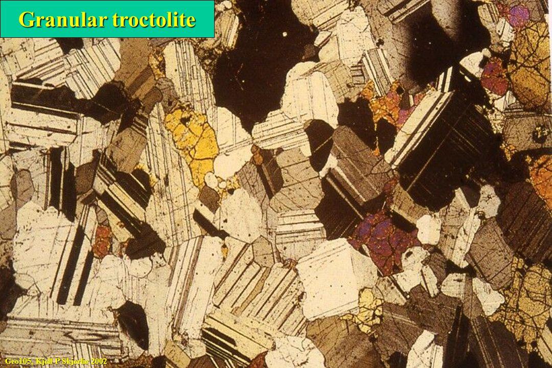 Geo105, Kjell P Skjerlie 2002 Granular troctolite