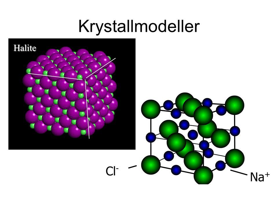 Krystallmodeller Halite
