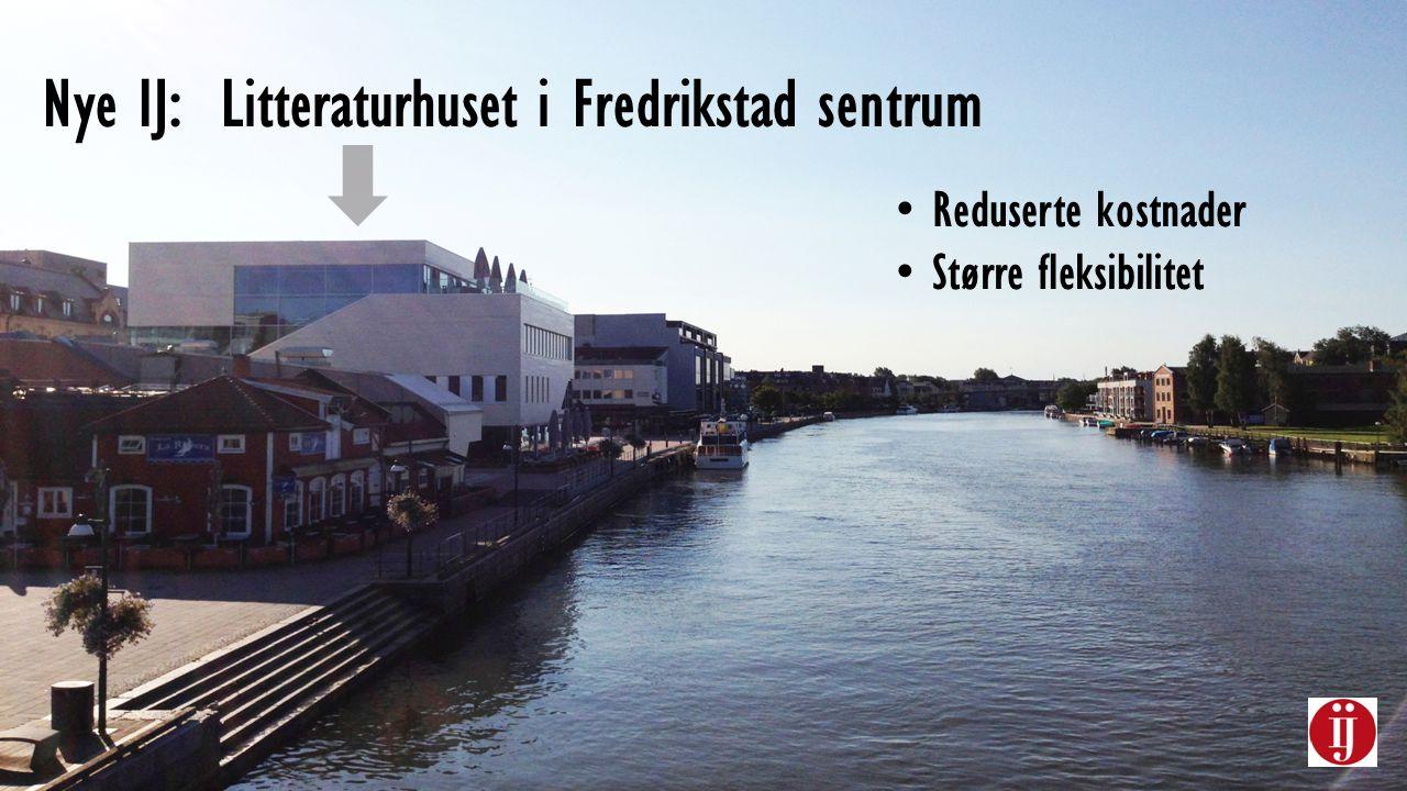 Nye IJ: Litteraturhuset i Fredrikstad sentrum Reduserte kostnader Større fleksibilitet