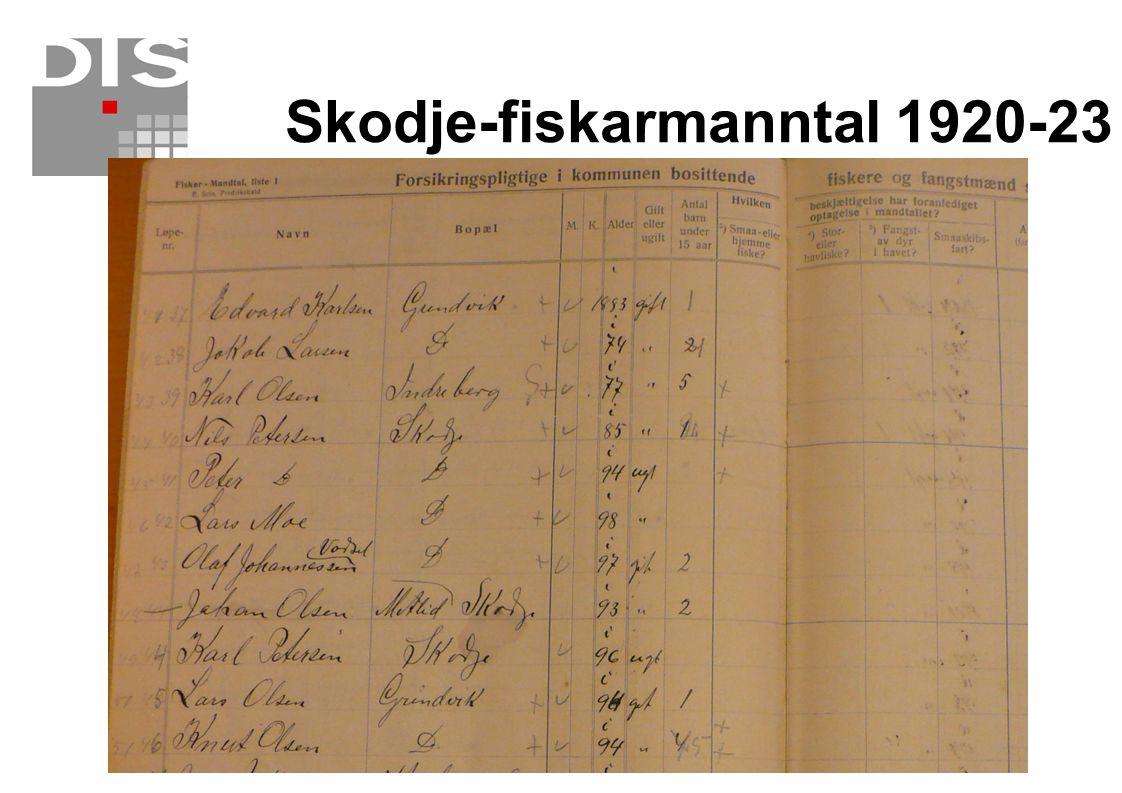 Skodje-fiskarmanntal 1920-23