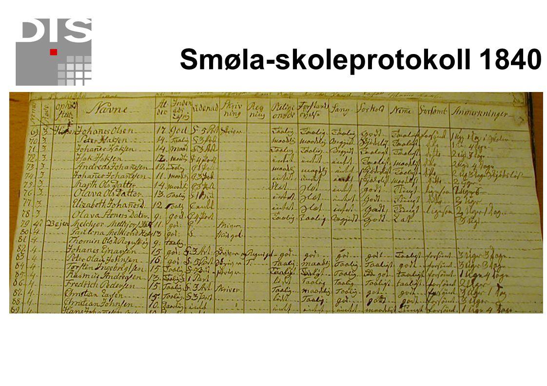 Smøla-skoleprotokoll 1840