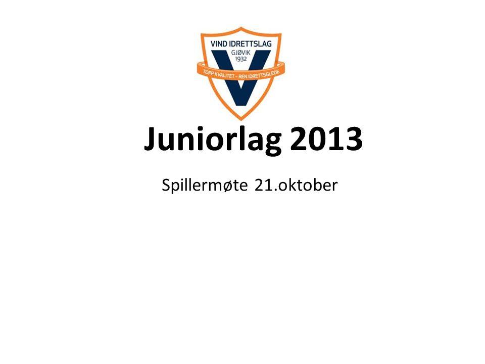 Juniorlag 2013 Spillermøte 21.oktober