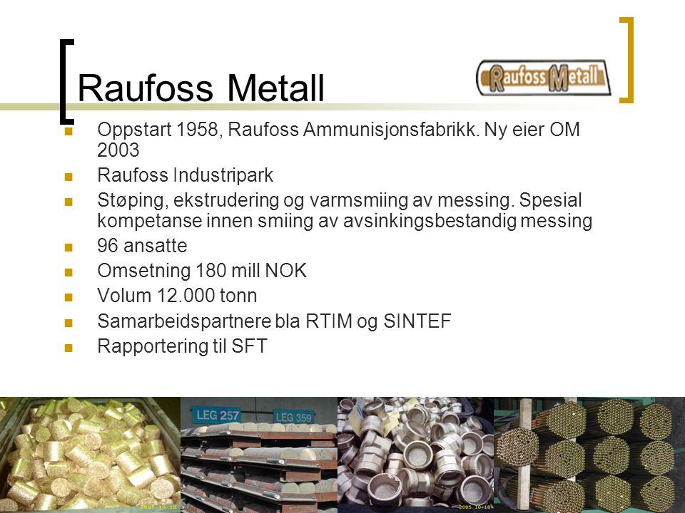 Oppland Metall AS, Postboks 46, 2801 Gjøvik. TLF:61187670. FAX:61170471 Raufoss Metall Oppstart 1958, Raufoss Ammunisjonsfabrikk. Ny eier OM 2003 Rauf