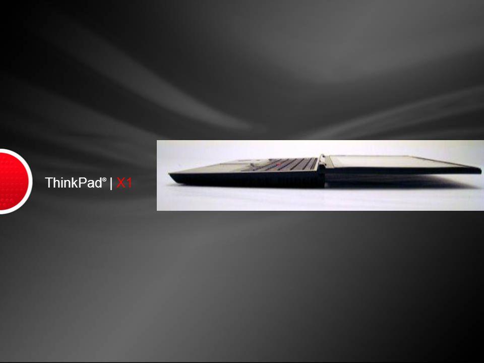 ThinkPad X1 Key Messages 1.Thinnest ThinkPad Ever...
