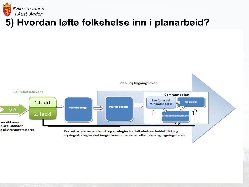 5) Hvordan løfte folkehelse inn i planarbeid?