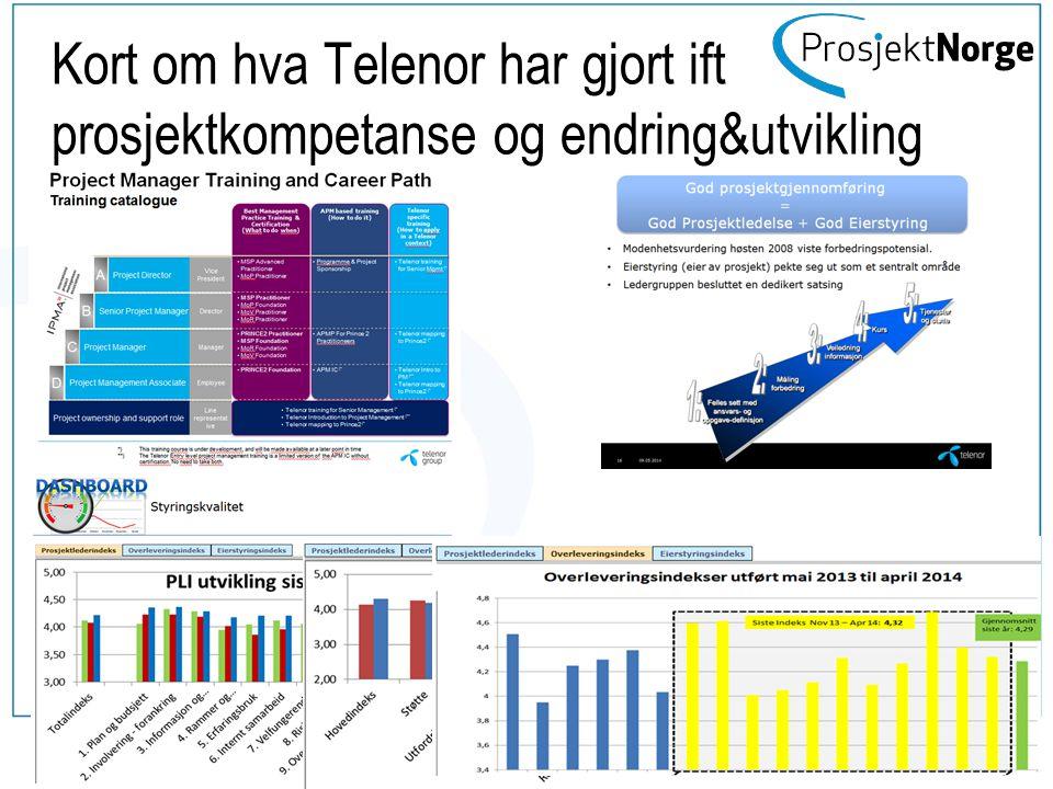 Kort om hva Telenor har gjort ift prosjektkompetanse og endring&utvikling 13 mai 2014 www.prosjektnorge.no 9