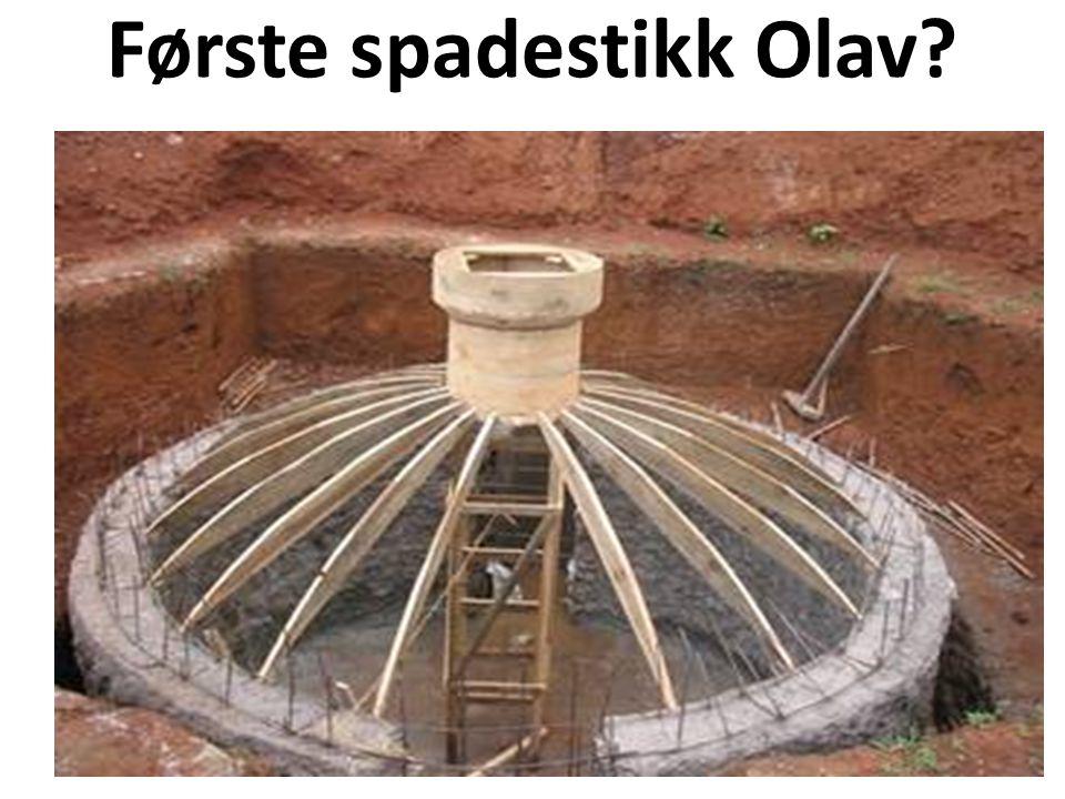 Første spadestikk Olav?