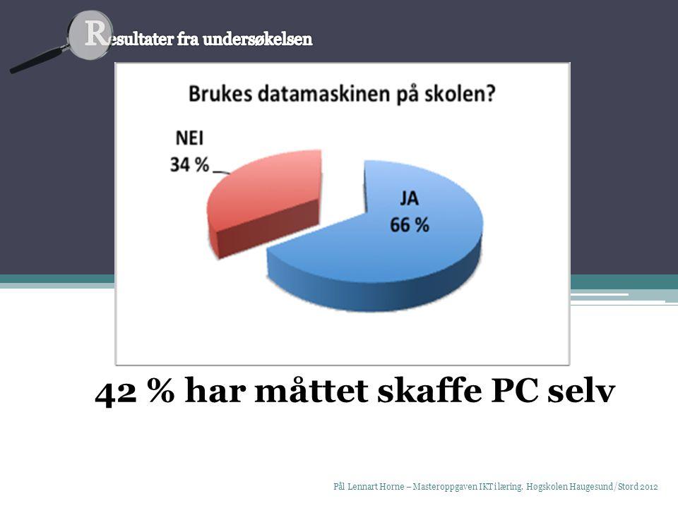 Pål Lennart Horne – Masteroppgaven IKT i læring.