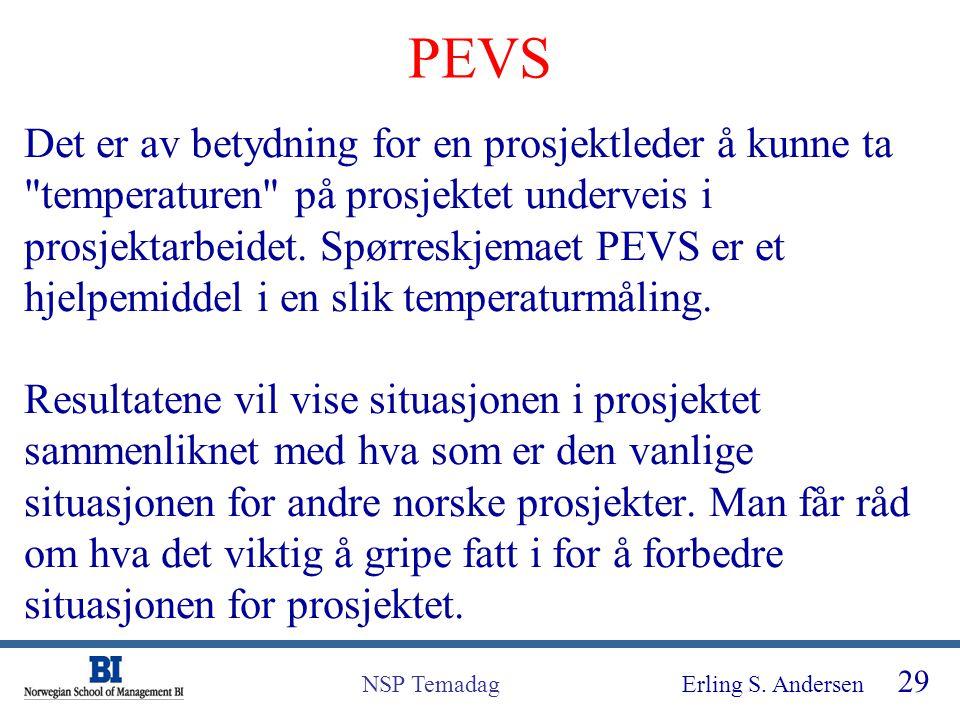 Erling S. Andersen 29 NSP Temadag Det er av betydning for en prosjektleder å kunne ta