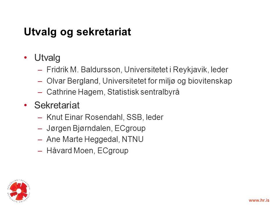 www.hr.is Utvalg og sekretariat Utvalg –Fridrik M.
