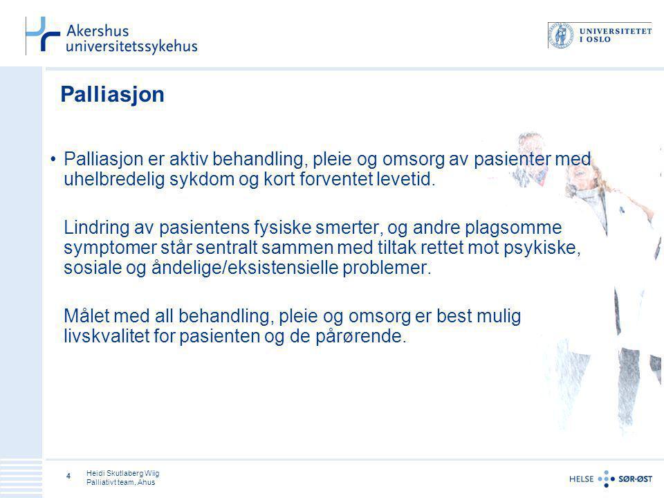 Heidi Skutlaberg Wiig Palliativt team, Ahus 15 Tillit Jeg ser deg Jeg hører deg Jeg tar deg på alvor –Våg å være varsomt direkte, det vil være respektløst å ikke nevne døden for et menneske som skal dø - selv om jeg ønsker å hjelpe deg med å leve .