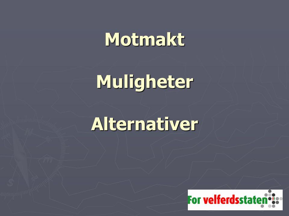 Motmakt Muligheter Alternativer