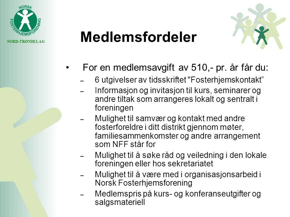 NORD-TRØNDELAG Medlemsfordeler For en medlemsavgift av 510,- pr.