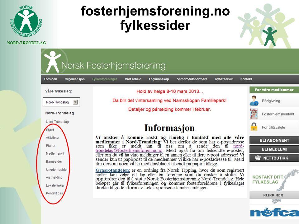 NORD-TRØNDELAG fosterhjemsforening.no fylkessider