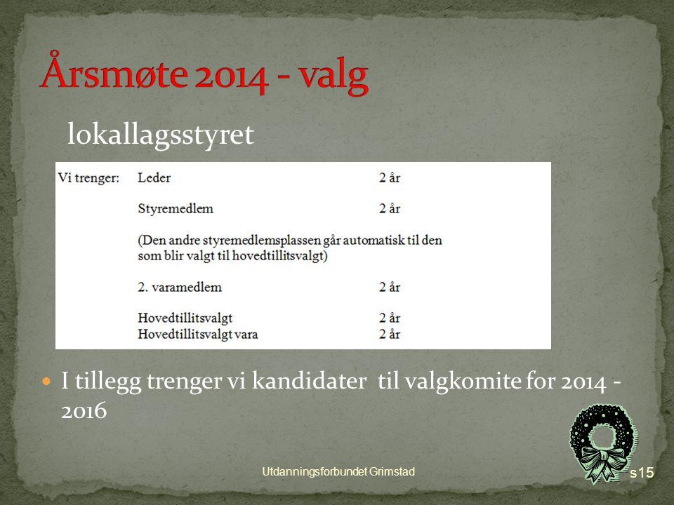 Januar og februar – holde klubbmøter med fokus på saker/resolusjoner og valg I løpet av februar– saker/resolusjoner sendes til lokallagsstyret i Grimstad Innspill til valgkomitéen innen 7.