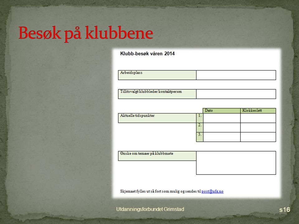 lokallagsstyret I tillegg trenger vi kandidater til valgkomite for 2014 - 2016 s15 Utdanningsforbundet Grimstad