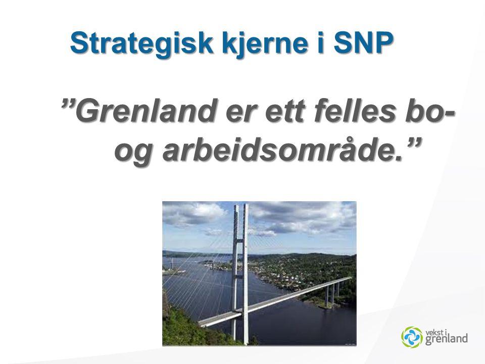 Grenland er ett felles bo- og arbeidsområde. Strategisk kjerne i SNP