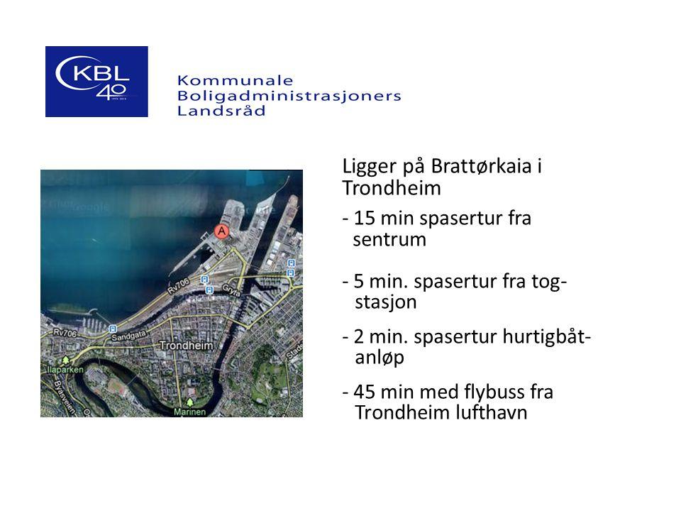 Ligger på Brattørkaia i Trondheim - 15 min spasertur fra _sentrum - 5 min. spasertur fra tog-------- --stasjon - 2 min. spasertur hurtigbåt----- --anl