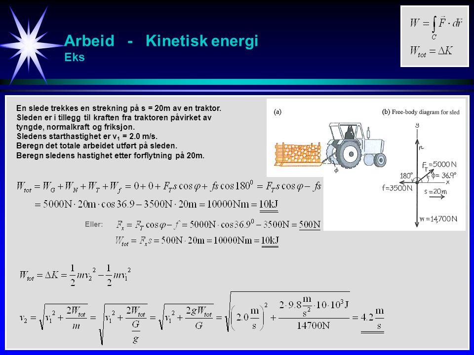 Effekt Effekt = Energi pr tidsenhet Effekt = Energi pr tidsenhet: Alternative uttrykk for effekt: Enhet for effekt: Watt Hestekraft F r dr C