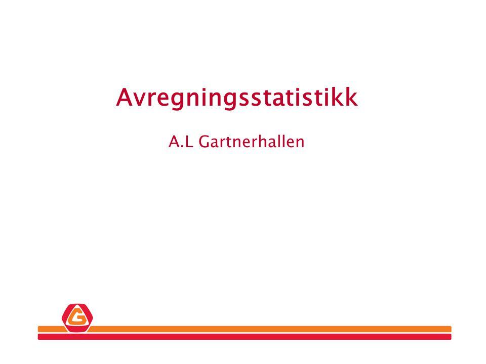 Gartner Avregningsstatistikk A.L Gartnerhallen
