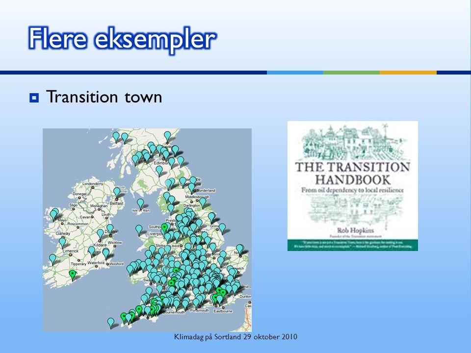  Transition town Klimadag på Sortland 29 oktober 2010