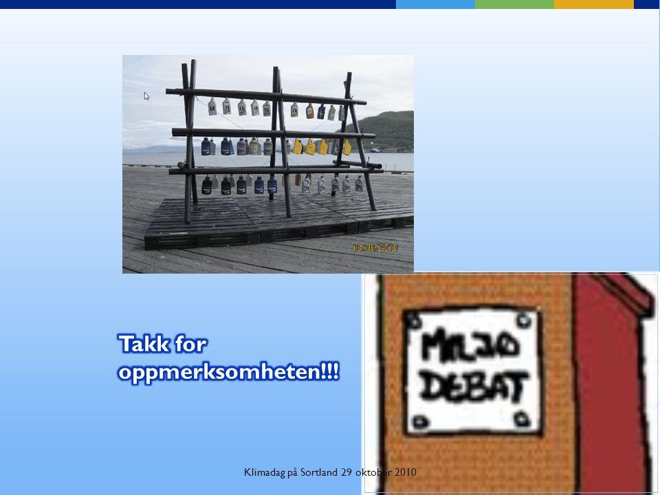 Klimadag på Sortland 29 oktober 2010