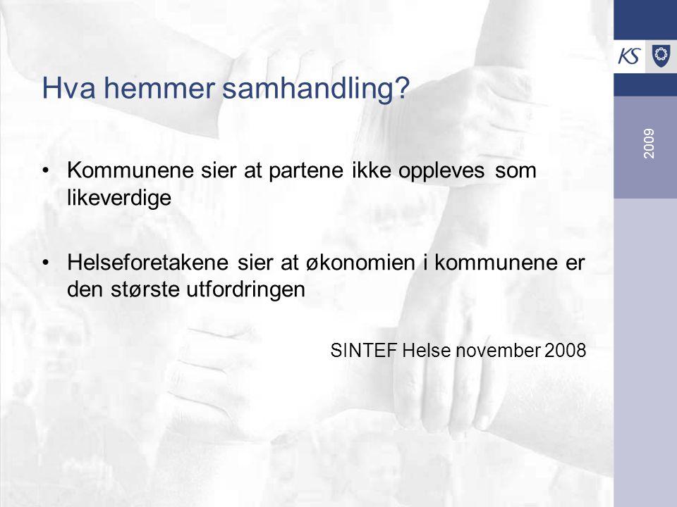 2009 Hva hemmer samhandling.