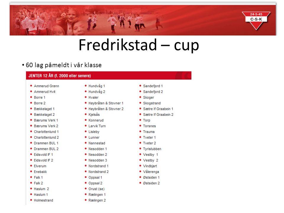 Fredrikstad – cup 60 lag påmeldt i vår klasse