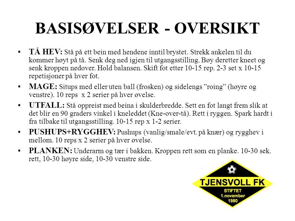 ØVELSE 9 INNOVERFØRERE/UTOVERFØRERE: Kan gjøres både med bøyde og strake bein.