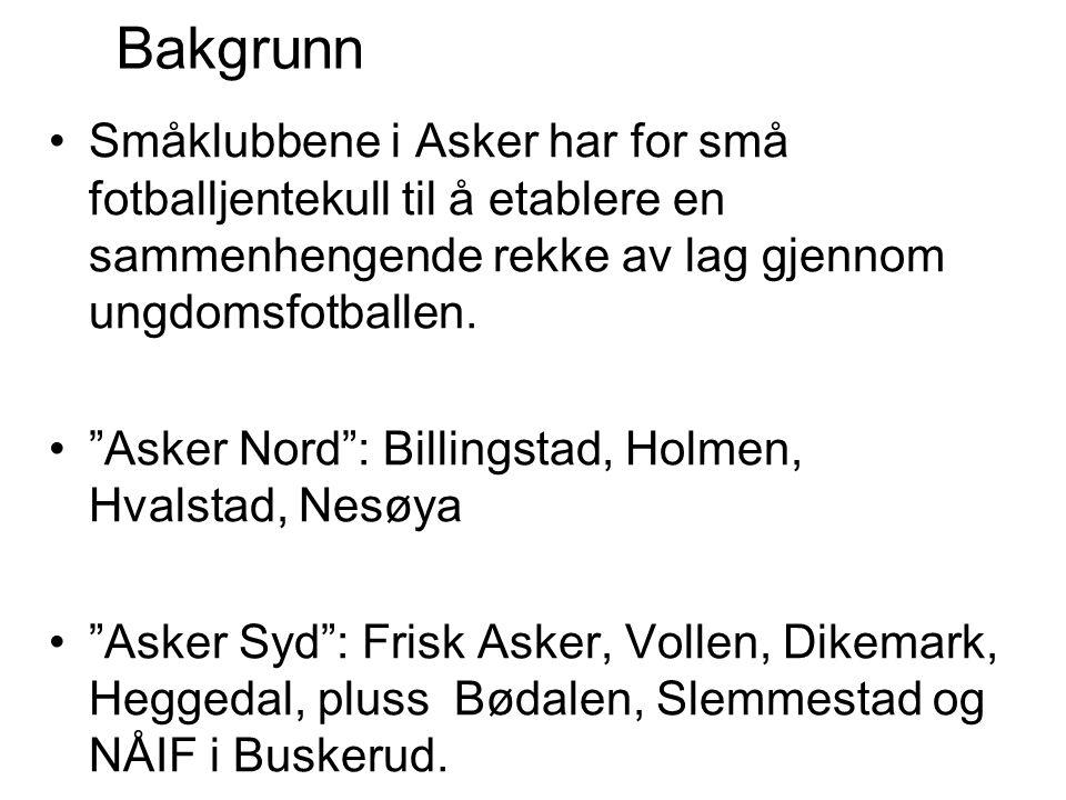 """Småklubbene i Asker har for små fotballjentekull til å etablere en sammenhengende rekke av lag gjennom ungdomsfotballen. """"Asker Nord"""": Billingstad, Ho"""