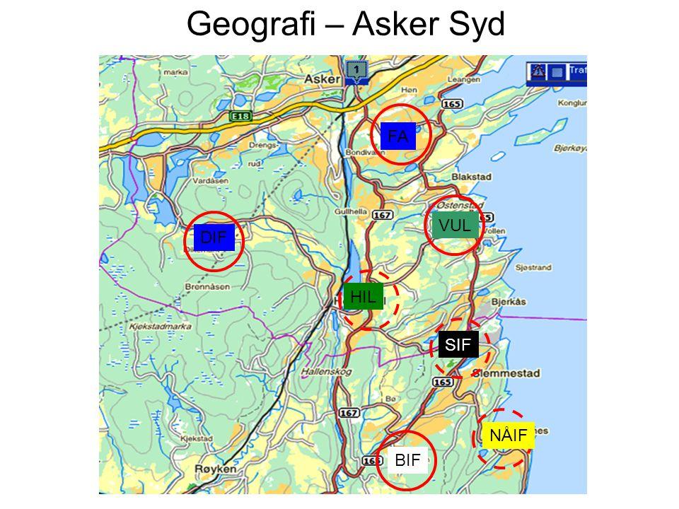 Geografi – Asker Syd FA VUL DIF HIL BIF SIF NÅIF
