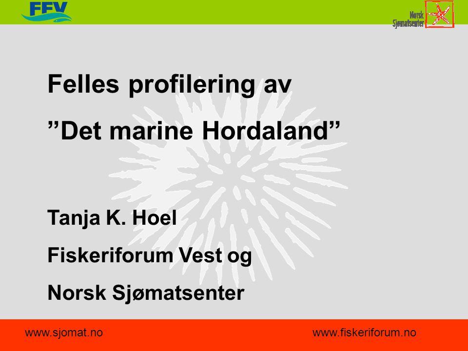 Felles profilering av Det marine Hordaland Tanja K.