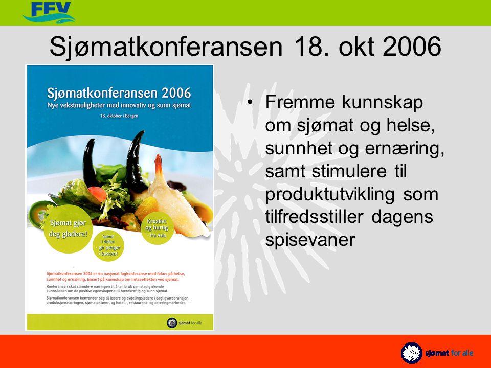 Fiskeri- og Kystdepartementet (FKD) og Norges forskningsråd om samarbeid mellom Forskningsdagene og Sjømat for alle, både på konferansen og de publikumsrettet aktivitetene.