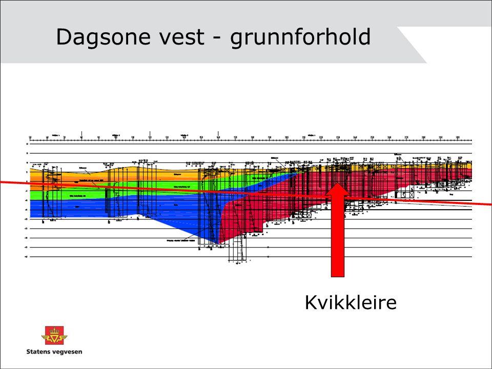 Dagsone vest - grunnforhold Kvikkleire