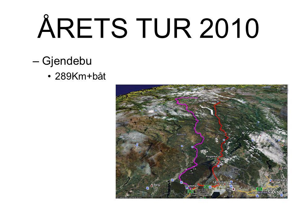 ÅRETS TUR 2010 –Gjendebu 289Km+båt