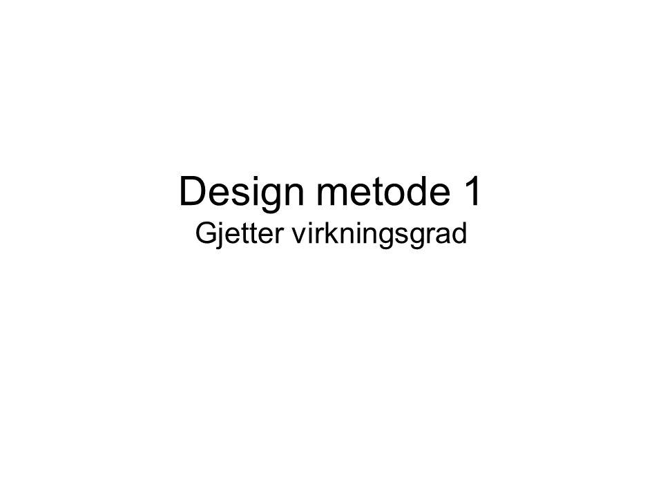 Design metode 1 Gjetter virkningsgrad