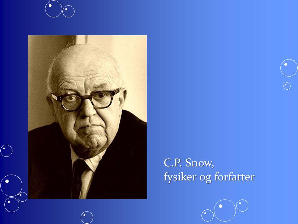 C.P. Snow, fysiker og forfatter