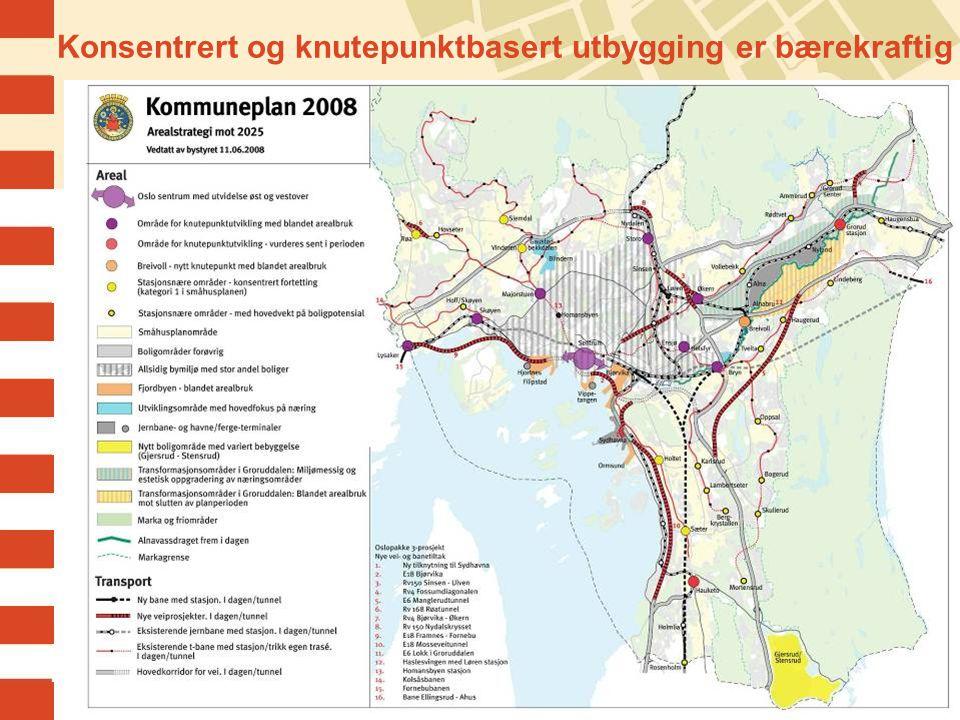 Konsentrert og knutepunktbasert utbygging er bærekraftig