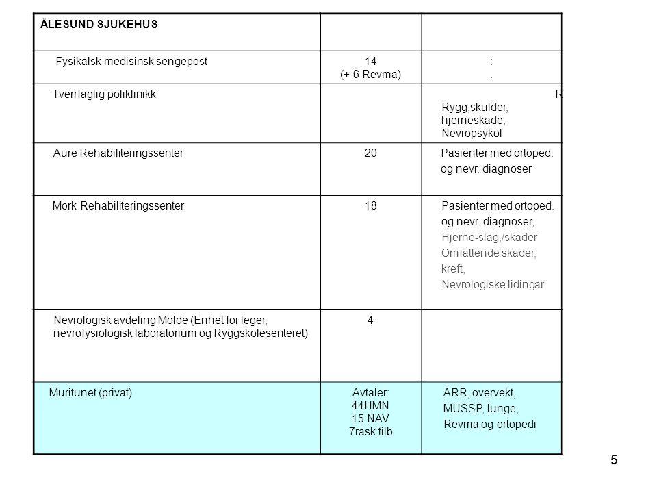 6 Angi 3 prioriterte kriterier for at rehabilitering bør foregå i en avdeling for fysikalsk medisin og rehabilitering i sykehus.