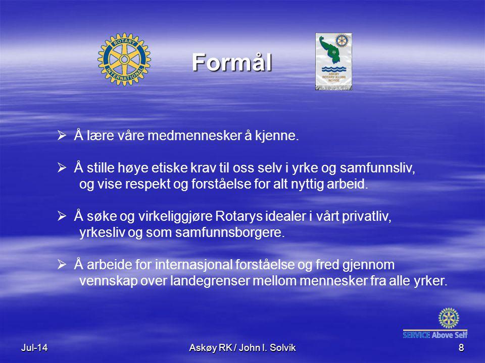 Jul-14Askøy RK / John I. Solvik8  Å lære våre medmennesker å kjenne.