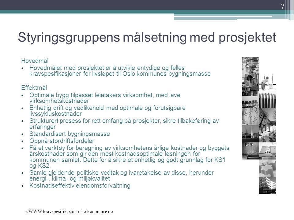://WWW.kravspesifikasjon.oslo.kommune.no 18