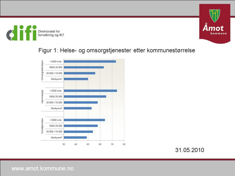 www.amot.kommune.no Figur 1: Helse- og omsorgstjenester etter kommunestørrelse 31.05.2010
