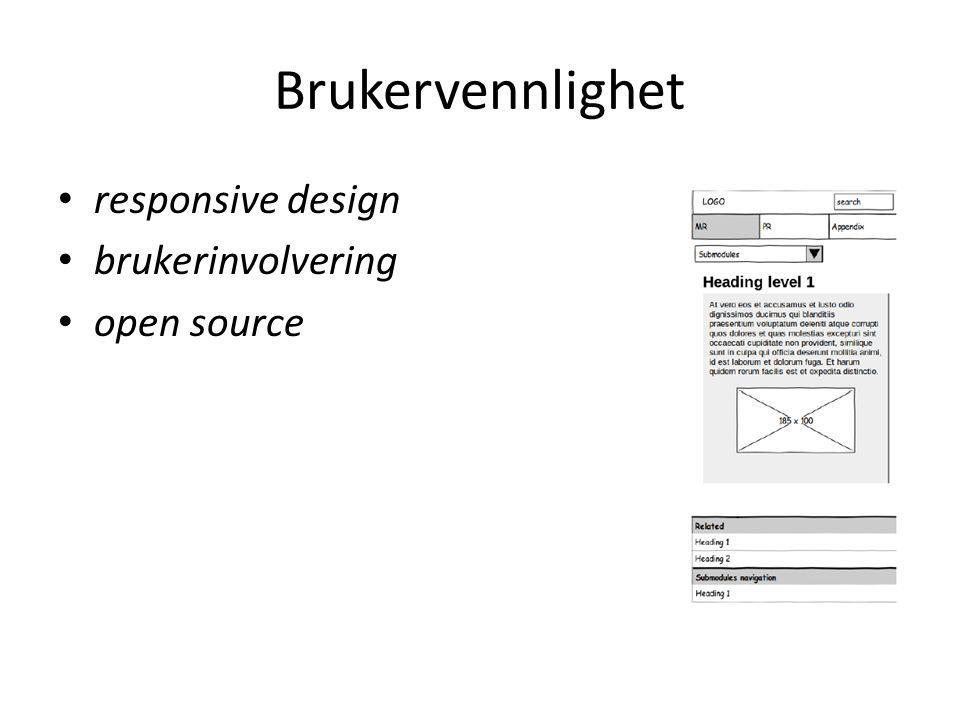 Brukervennlighet responsive design brukerinvolvering open source