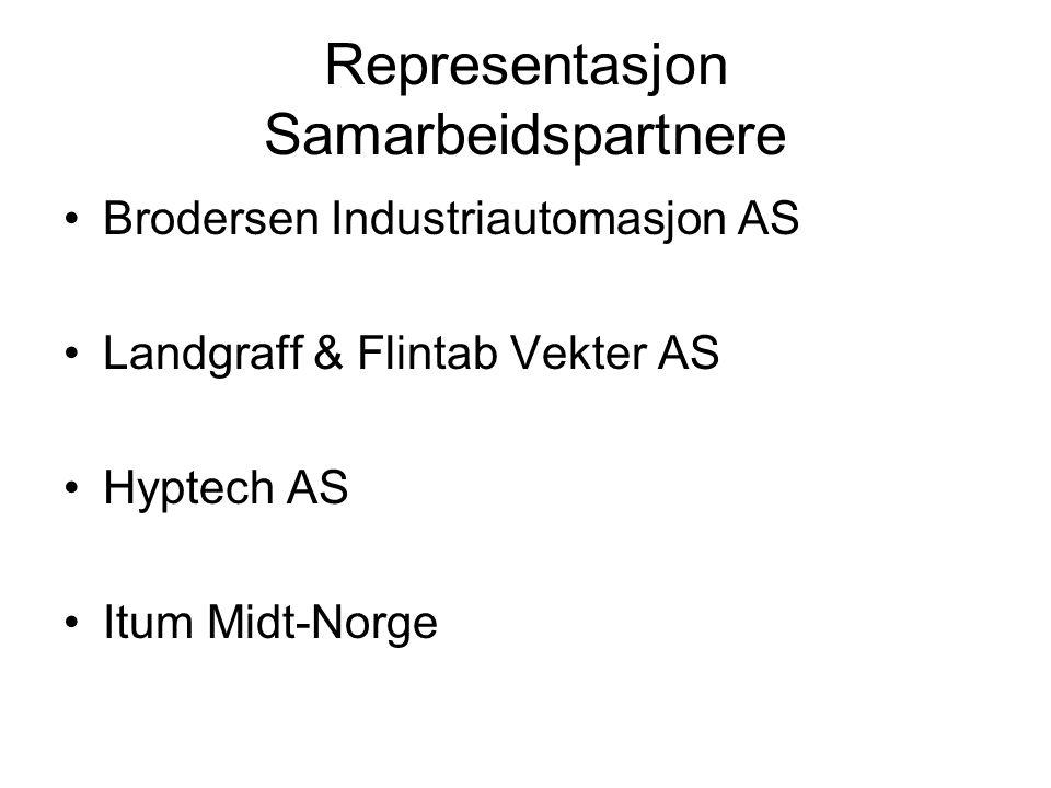 Representasjon Samarbeidspartnere Brodersen Industriautomasjon AS Landgraff & Flintab Vekter AS Hyptech AS Itum Midt-Norge
