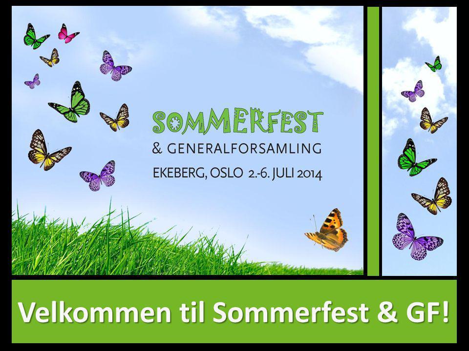 Velkommen til Sommerfest & GF!