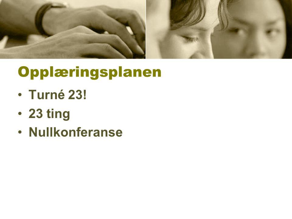Opplæringsplanen Turné 23! 23 ting Nullkonferanse